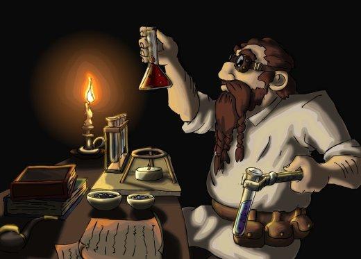 Dwarf Alchemist by Gnomkolin